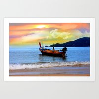 thailand Art Prints featuring  thailand by mark ashkenazi