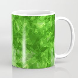Dark pastel variegated green stars in the projection. Coffee Mug