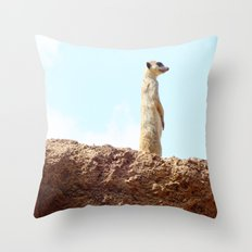 Meerkat. Throw Pillow