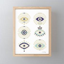 Evil Eye Collection on White Framed Mini Art Print