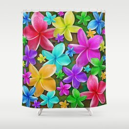 Plumerias Flowers Dream Shower Curtain