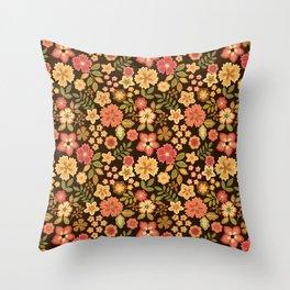 Mini Flowers Throw Pillow