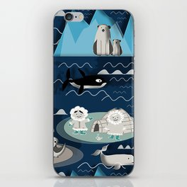 Arctic animals blue iPhone Skin