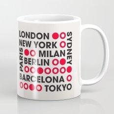 I Love This City Typography Mug