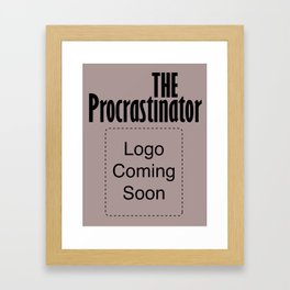 The Procrastinator Framed Art Print