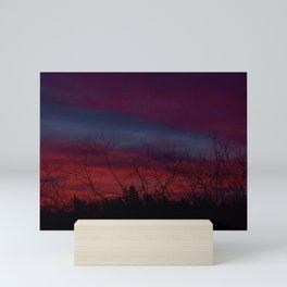 Red Sky in The Morning Mini Art Print