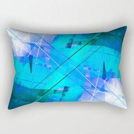 Vaporwave - Geometric Abstract Art Rectangular Pillow