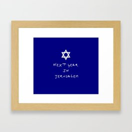 Next year in Jerusalem 7 Framed Art Print