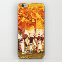 colombia iPhone & iPod Skins featuring Colombia Celebrating by Max Hopmans / FootWalls