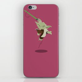 Yoda minimalist Flat design iPhone Skin