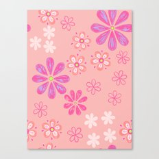 Pink Petal Pattern Canvas Print