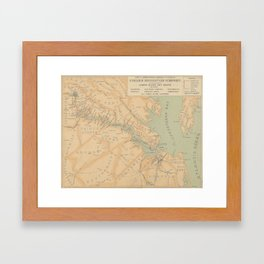 Vintage Map of The James River (1899) Framed Art Print