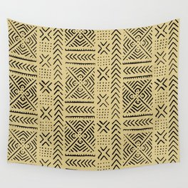 Line Mud Cloth // Tan Wall Tapestry
