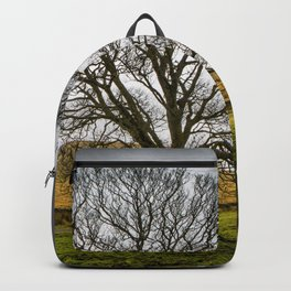 Single tree in stormy weather Backpack