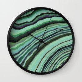 Mineralicious~Mint Tourmaline Wall Clock