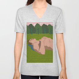 Sheep's Meadow Dreaming Unisex V-Neck
