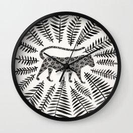 Black Jaguar Wall Clock
