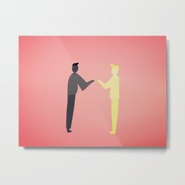 Invite your shadow Metal Print