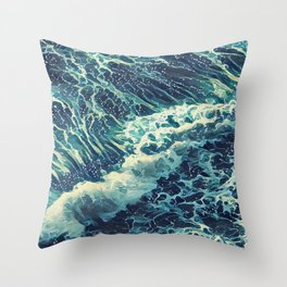 Every tide hath its ebb Throw Pillow