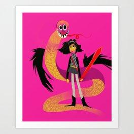 Dragon & Rider Art Print