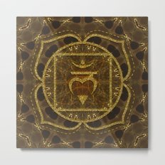 Earth Glitter | Root Chakra Metal Print