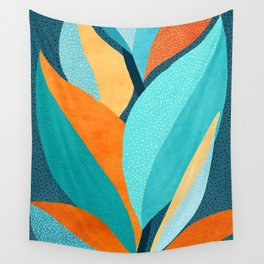 Abstract Tropical Foliage Wall Tapestry