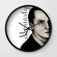 moriarty Wall Clocks featuring Moriarty by LiseRichardson