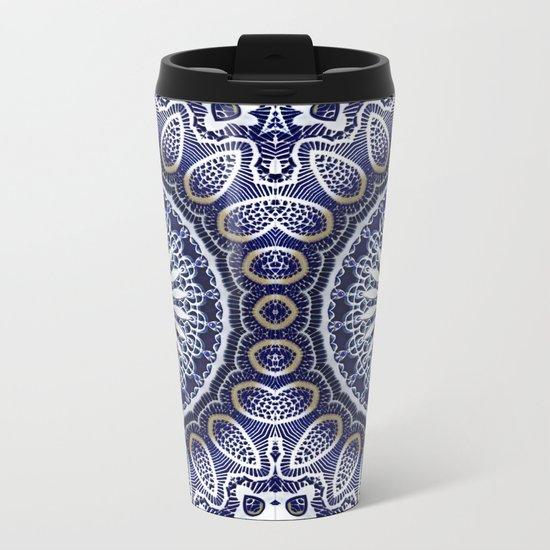 China Blue Metal Travel Mug