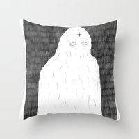 ghost Throw Pillows featuring Ghost by David Penela