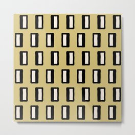 Chad Pattern Gold 2 Metal Print