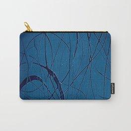 Navy Blue - Jackson Pollock Style - Modern Carry-All Pouch