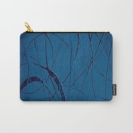 Navy Blue - Jackson Pollock Style - Famous Artists - Abstract Painters - Modern Art - Corbin Henry Carry-All Pouch
