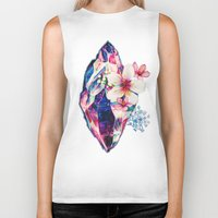 crystal Biker Tanks featuring crystal by Felicity Du