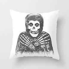 Crimson Ghost Throw Pillow
