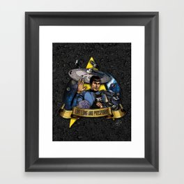 Live Long and Prospurrr... Framed Art Print