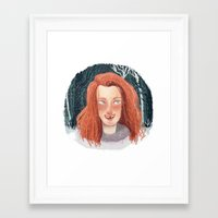 ygritte Framed Art Prints featuring In Winter by laurarts