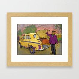 Kolkata Taxi Framed Art Print