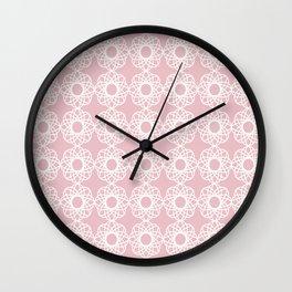 Pretty lace flowers Wall Clock