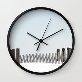 Linear Winter Wall Clock