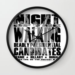 The Walking Presidential Candidates (all over) by Jeronimo Rubio 2016 Wall Clock