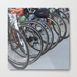 Bicycle Wheels Metal Print