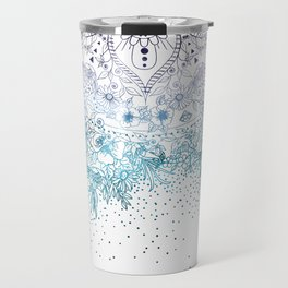 Elegant floral mandala and confetti image Travel Mug