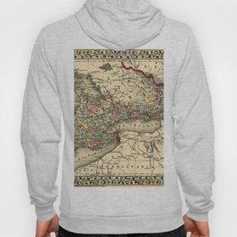 Map Of Ontario 1874 Hoody