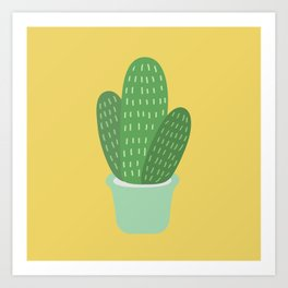 Cute Cactus Illustration Art Print