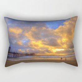 El Niño Sunset Huntington Beach Pier Rectangular Pillow