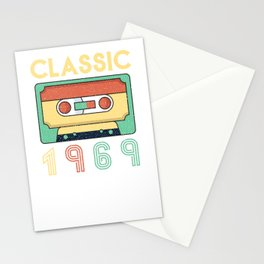 Classic 1969 Mixtape Cassette Birthday Stationery Cards
