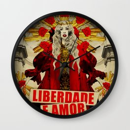 Liberdade e Amor Wall Clock