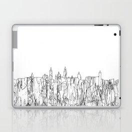 Glasgow, Scotland UK Skyline B&W - Thin Line Laptop & iPad Skin