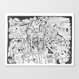 THE NAPOLEON BILLY-GOAT Canvas Print