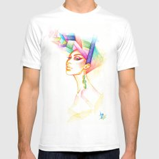 Cleo White MEDIUM Mens Fitted Tee